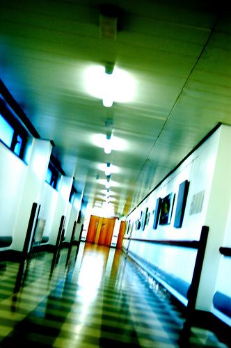 Housekeeper hallway