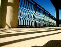 Shadow-stripes - porch and railing