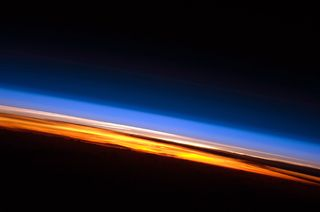 Sunrise from international space station - doug wheelock