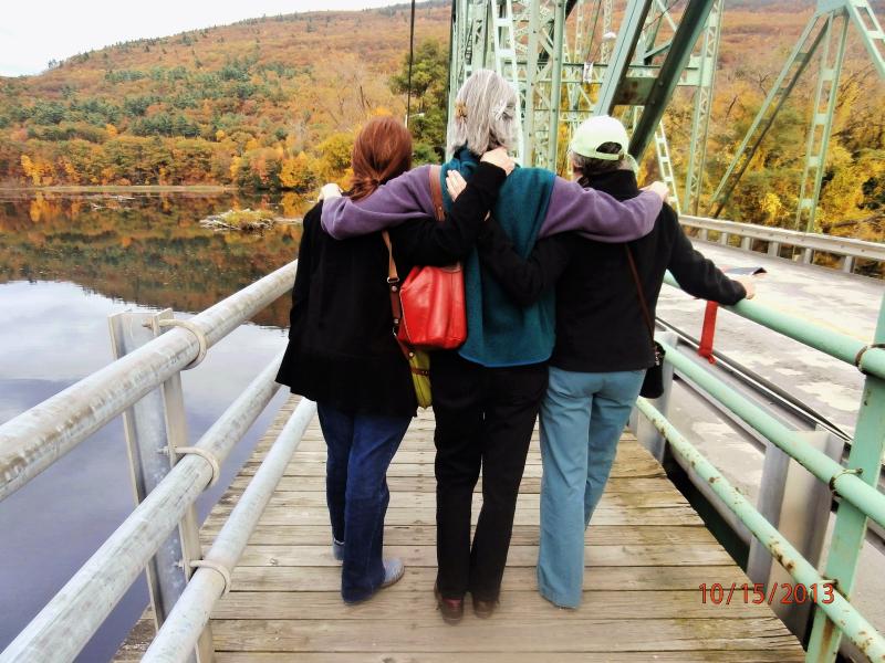 Crossing the bridge-friends 10-2013