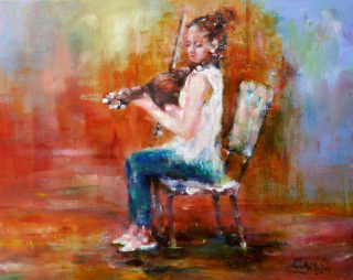 Fiddler original copyright Anne Milligan 2016