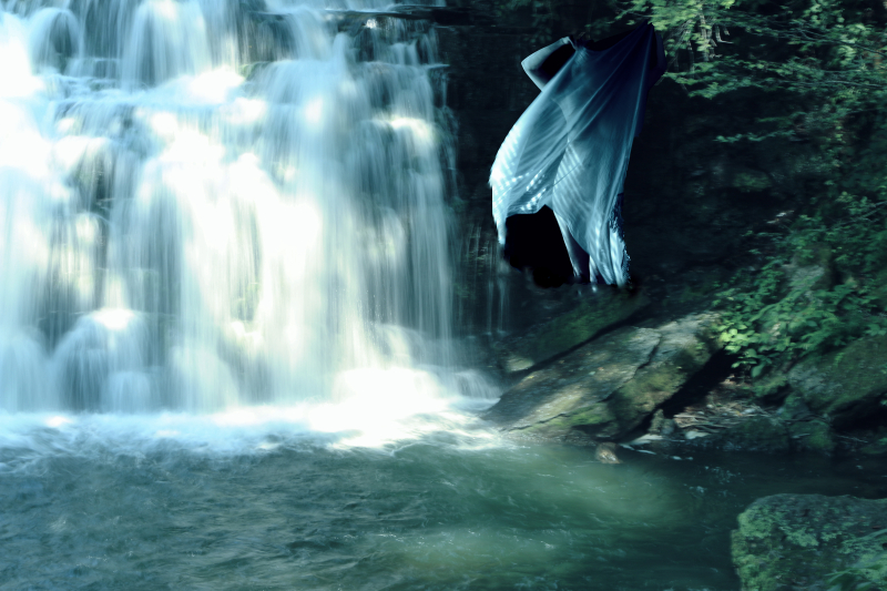 Waterfall dancer #2blue