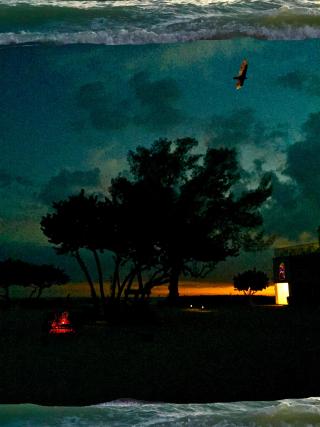 Surreal sunset - copyright erie chapman 2017