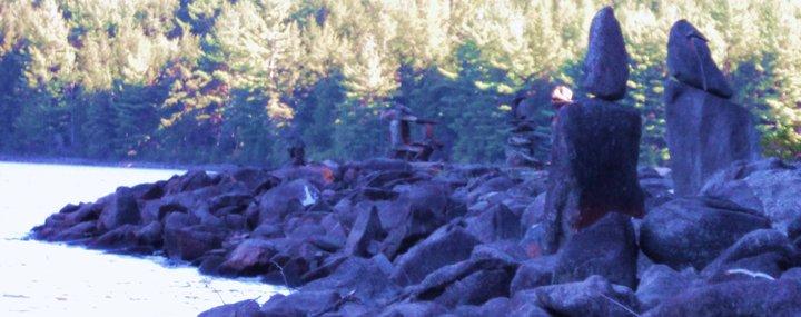 Stones sculptures Vermont