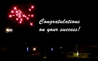 Fireworks congrats
