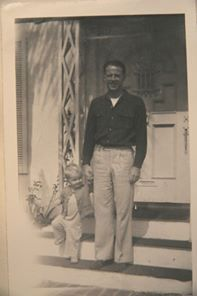 With dad - 1948
