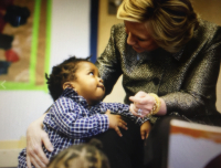 Hillary with small child 2