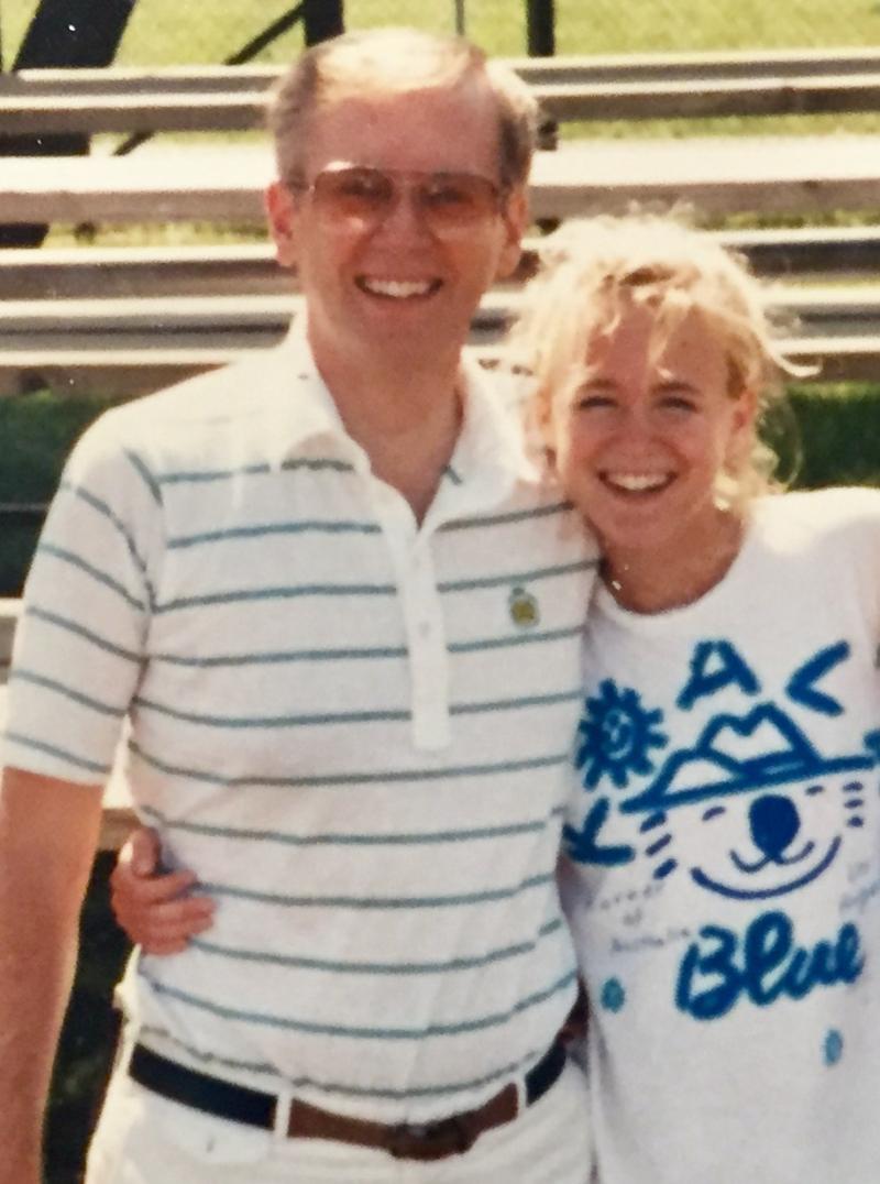 Tia and dad 1987