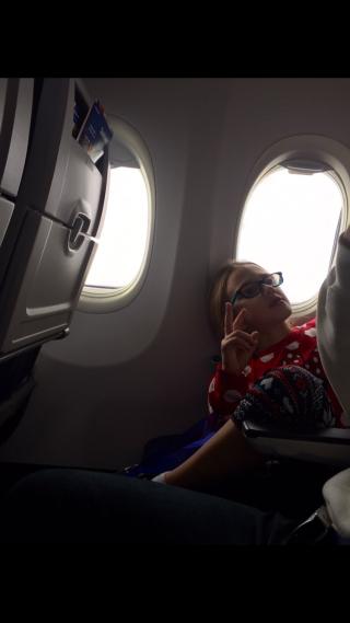 Plane girl