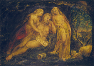 William_Blake_Lot_and_His_Daughters_Butlin_381