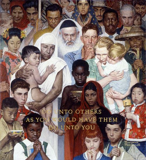 Norman Rockwell Do Onto Others